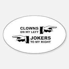 Clowns & Jokers Sticker (Oval)
