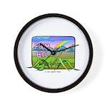 Farm Girl Rainbow Wall Clock