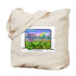 Farm Girl Rainbow Tote Bag