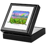 Farm Girl Rainbow Keepsake Box