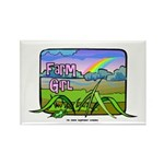 Farm Girl Rainbow Rectangle Magnet (10 pack)