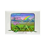 Farm Girl Rainbow Rectangle Magnet (100 pack)