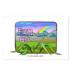 Farm Girl Rainbow Postcards (Package of 8)