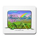 Farm Girl Rainbow Mousepad