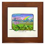 Farm Girl Rainbow Framed Tile