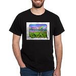 Farm Girl Rainbow Black T-Shirt