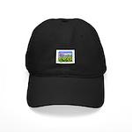 Farm Girl Rainbow Black Cap