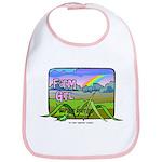 Farm Girl Rainbow Bib