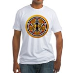 Gold-Red Goddess Pentacle Fitted T-Shirt