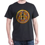 Gold-Red Goddess Pentacle Dark T-Shirt