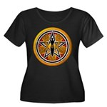 Gold-Red Goddess Pentacle Women's Plus Size Scoop