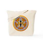 Gold-Red Goddess Pentacle Tote Bag