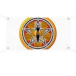 Gold-Red Goddess Pentacle Banner