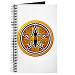 Gold-Red Goddess Pentacle Journal