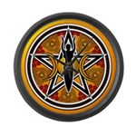 Gold-Red Goddess Pentacle Large Wall Clock