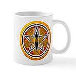Gold-Red Goddess Pentacle Mug