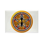 Gold-Red Goddess Pentacle Rectangle Magnet (100 pa