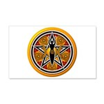 Gold-Red Goddess Pentacle 22x14 Wall Peel
