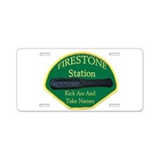 Firestone Station KAATN Aluminum License Plate
