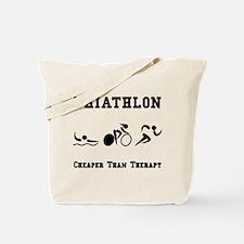 Triathlon Therapy Tote Bag
