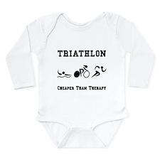 Triathlon Therapy Long Sleeve Infant Bodysuit