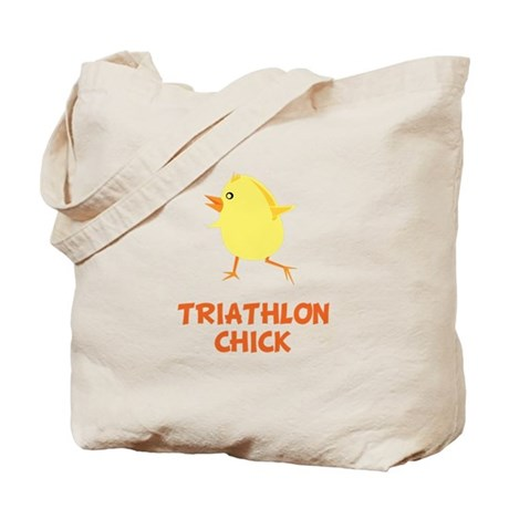 Triathlon Chick Tote Bag