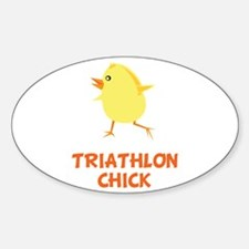 Triathlon Chick Decal