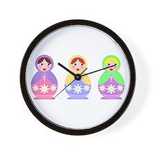 3 Matryoshka Wall Clock