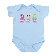 3 Matryoshka Infant Bodysuit