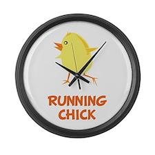 Running Chick Large Wall Clock