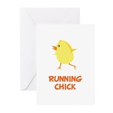 Running Chick Greeting Cards (Pk of 20)