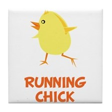 Running Chick Tile Coaster