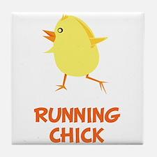 Running Chick Tile Coaster