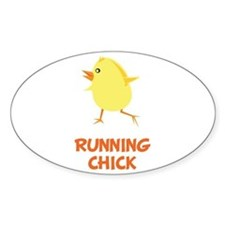 Running Chick Decal