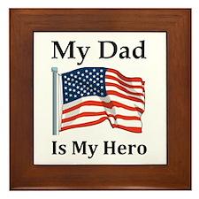 My Dad is my hero Framed Tile