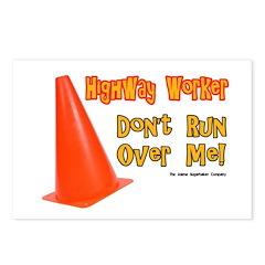 Highway Worker Run Over Me Postcards (Package of 8