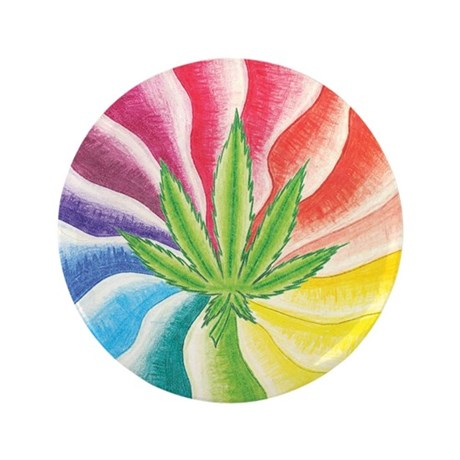 """Marijuana Swirl 3.5"""" Button (100 pack)"""