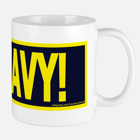 GONAVY1White Mugs
