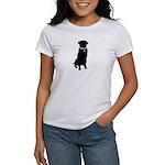 Golden Retriver Breast Cancer Women's T-Shirt