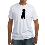 Golden Retriver Breast Cancer Fitted T-Shirt