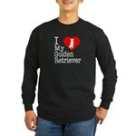 I Love My Golden Retriever Long Sleeve Dark T-Shir