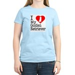 I Love My Golden Retriever Women's Light T-Shirt