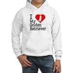 I Love My Golden Retriever Hooded Sweatshirt