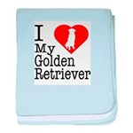I Love My Golden Retriever Infant Blanket
