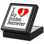 I Love My Golden Retriever Keepsake Box