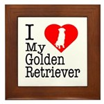 I Love My Golden Retriever Framed Tile