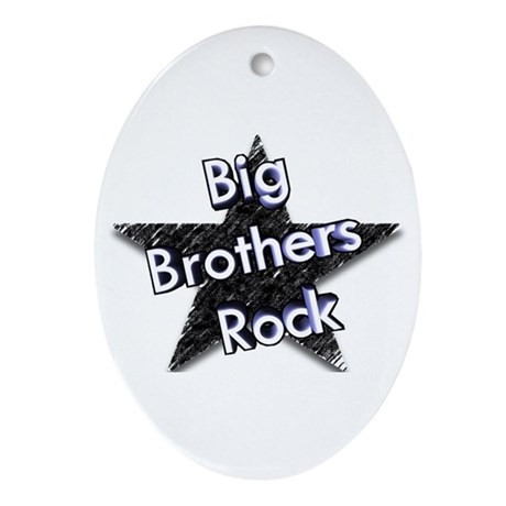 Big Brothers Rock Oval Ornament