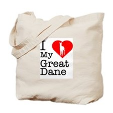 I Love My Great Dane Tote Bag
