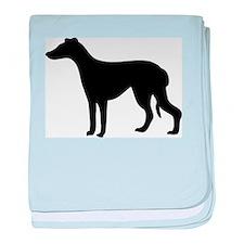 Greyhound Silhouette baby blanket