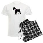 Fox Terrier Breast Cancer Sup Men's Light Pajamas